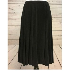 Chico's Travelers A-Line Skirt 1 Small Black Sexy